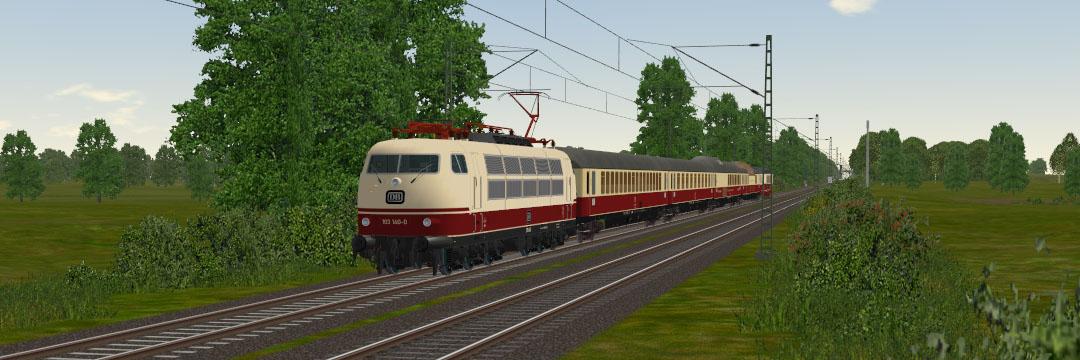 BR103 auf der Rollbahn