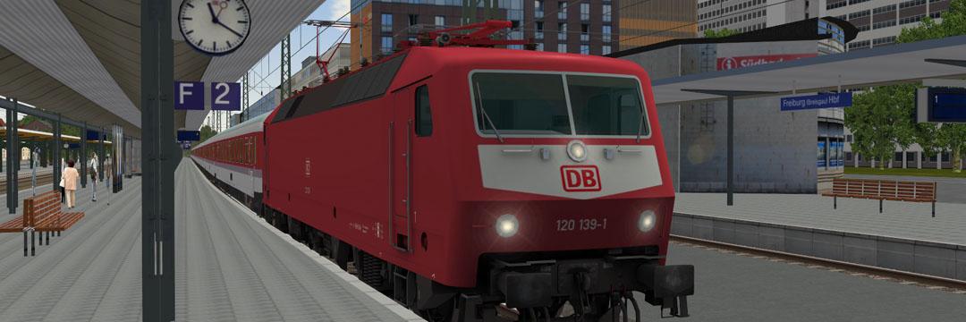 Baureihe 120 in Freiburg Hbf
